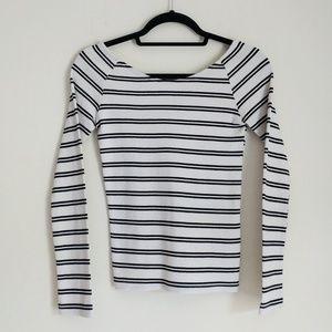 Zara Trafaluc Striped Long Sleeve Shirt